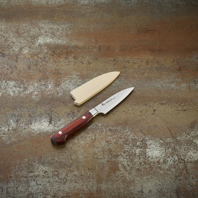 Couteau d'office lame Damassée 33 couches martelée 80 mm