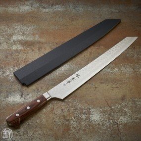 Couteau Kiritsuke Yanagiba pour sashimi, lame Damassée 17 couches 300 mm Couteaux Japonais