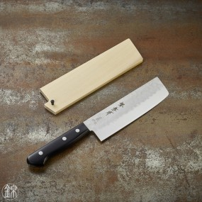 Nakiri knife for vegetables, 165 mm hammered blade