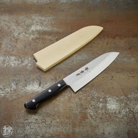 Santoku knife, 165 mm hammered blade