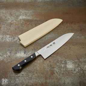 Grand Santoku knife, 180 mm hammered blade
