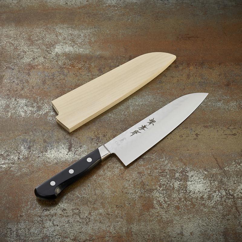Grand Santoku knife, 180 mm hammered blade