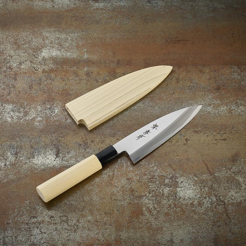 Couteau Funayuki Deba à poissons lame 150 mm - droitier Série Kasumi Togi (Méthode d'affutage traditionnelle)
