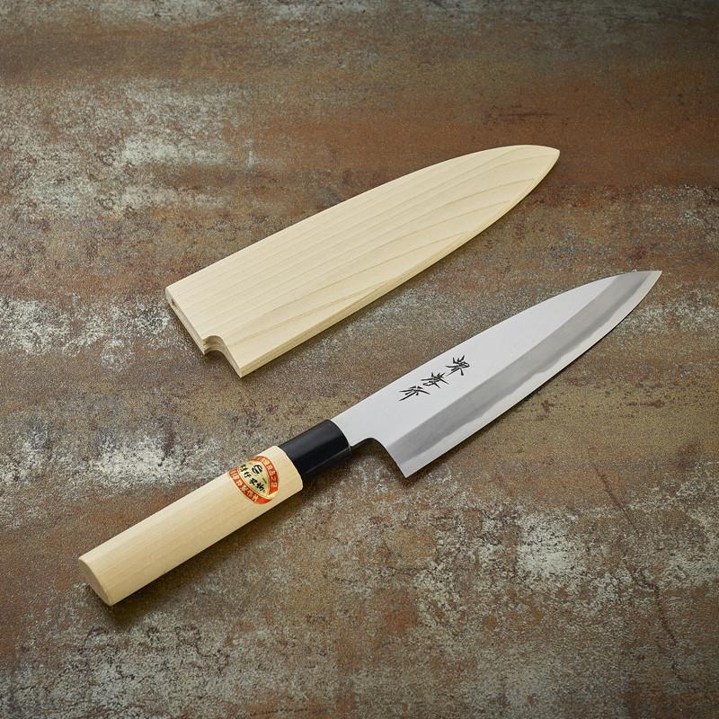 Couteau Funayuki Deba à poissons lame 195 mm - droitier Série Kasumi Togi (Méthode d'affutage traditionnelle)