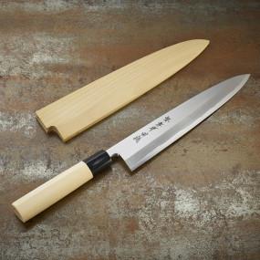 Couteau Mioroshi-Deba pour poissons, lame 240mm, droitier + étui
