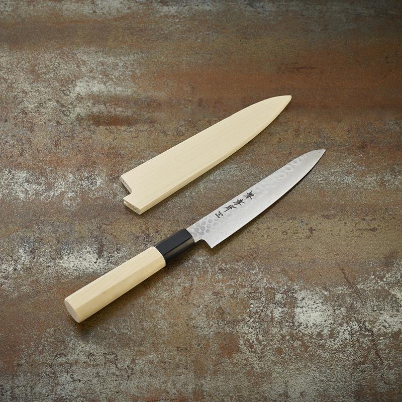 Couteau office lame Damassée 45 couches martelée 150 mm