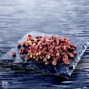 Dried rippened red sansho grape berries