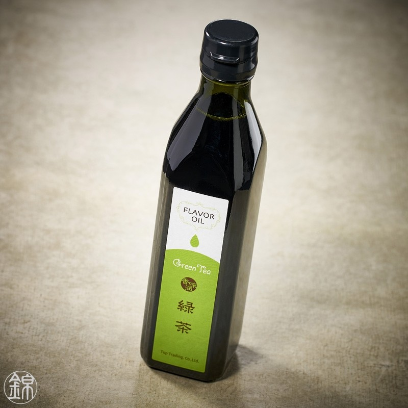 Rapeseed and olive oil flavored with green tea
