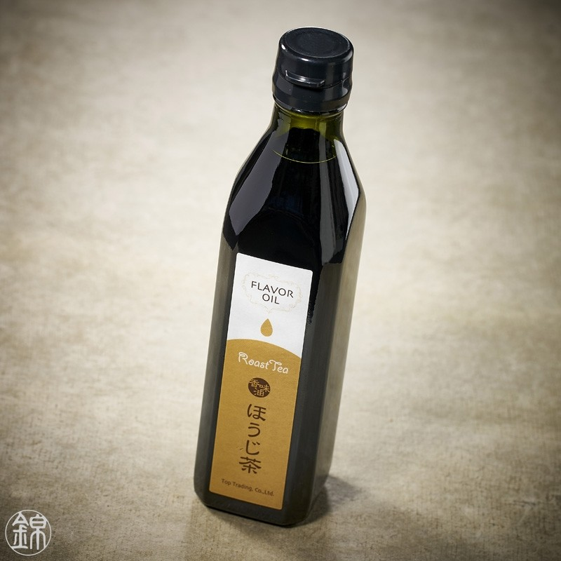 Rapeseed and olive oil flavored with roasted Hôjicha tea