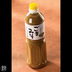 White sesame and miso sauce for salads and meat Japanese sauces