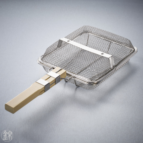 Rectangular basket to grill nuts