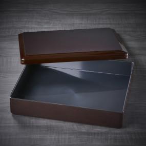 Boite bento noire et son compartiment 310x247x67mm