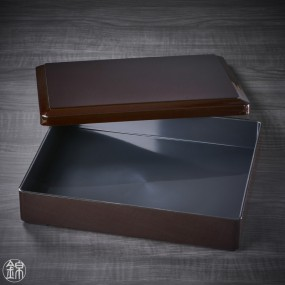 Boite bento noire et son compartiment