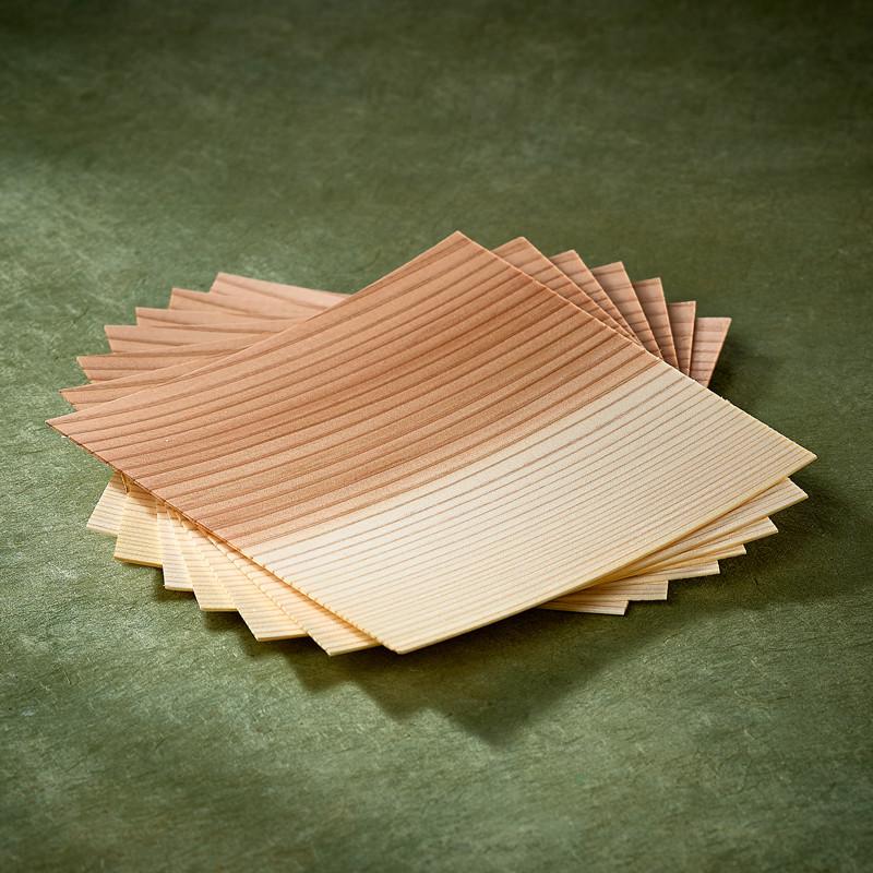 Plaquettes de bois de cèdre Sugi Ita pour cuisson Paniers et plaquettes de cuisson