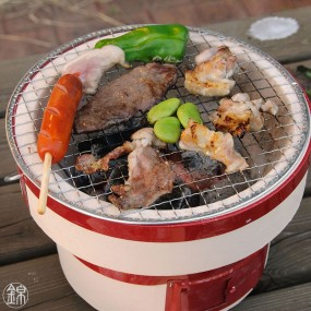 Shichirin barbecue for table L size Japanese barbecue