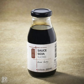 Amaï Shoyu soy sauce sweetened with unrefined black sugar from Okinawa