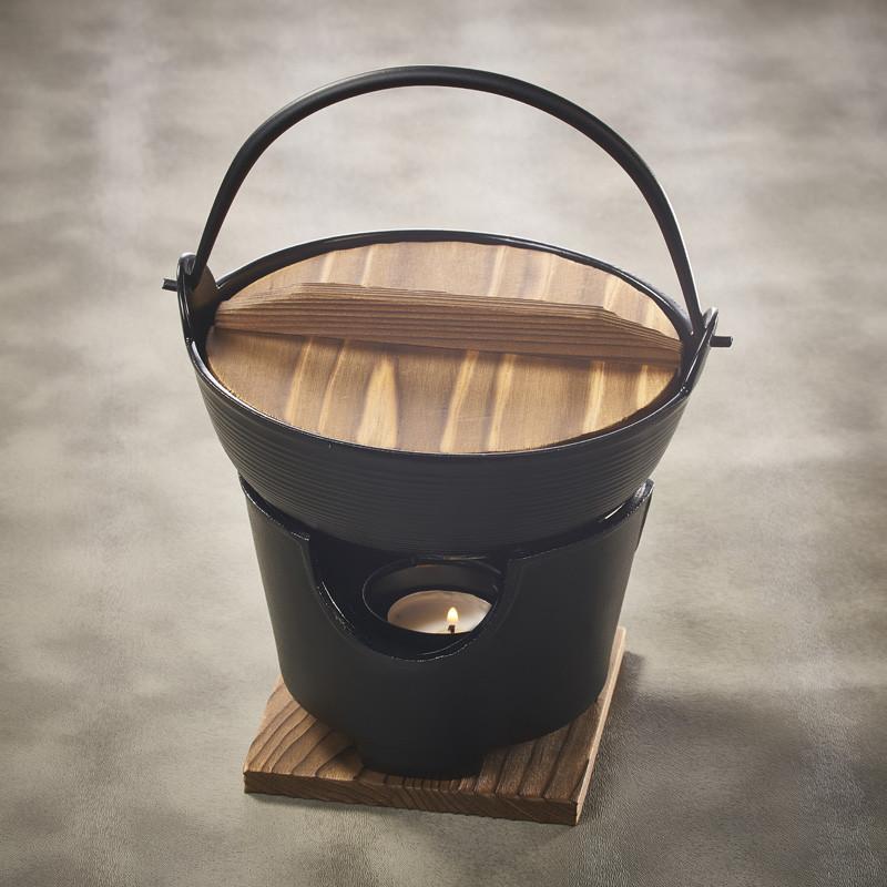 Récipient à fondue shabu shabu diam.17cm et son foyer de table
