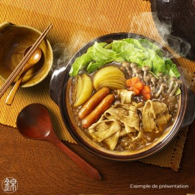 Curry nabe hot pot broth