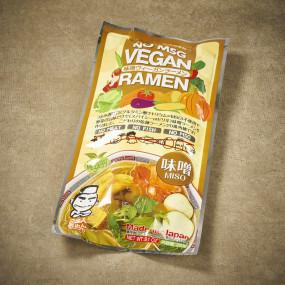 Ramen vegan et son bouillon au miso
