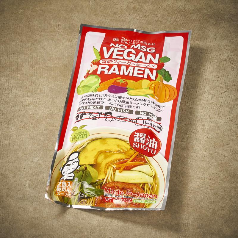 Vegan ramen and soy sauce broth Noodles