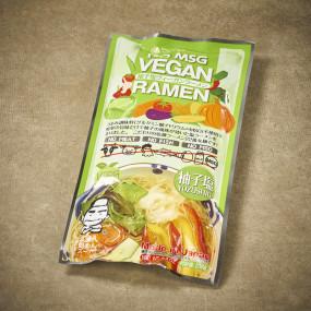 Ramen vegan et son bouillon au Yuzu
