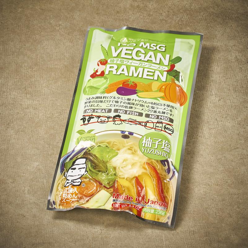 Vegan ramen and yuzu broth