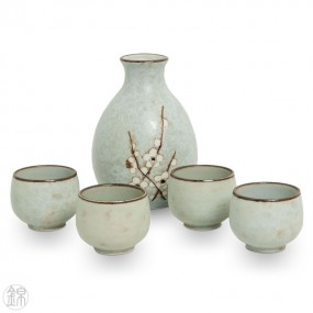 Service à saké en porcelaine La dégustation
