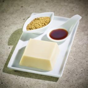 Godofu de soja, accompagné de son sucre noir et Kinako - Date courte Dates courtes