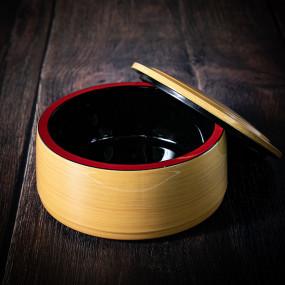 Récipient donburi couleur beige bambou, Ø 165 mm, hauteur 80mm Bento box