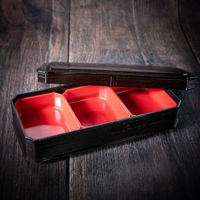 Boîte à bento shokado 3 compartiments 305*145*60 Boite Bento