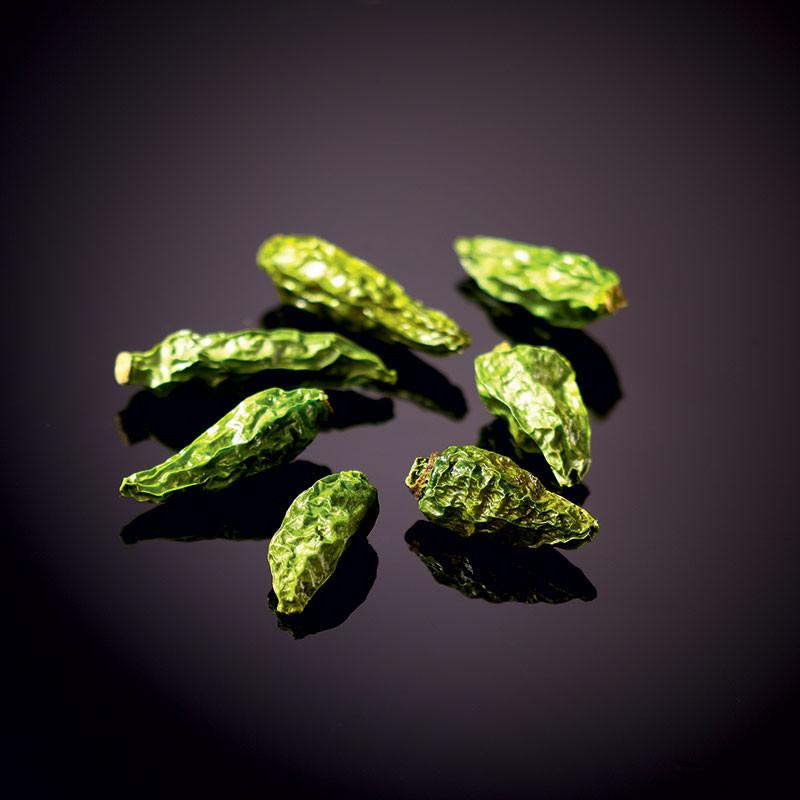 Whole green pili-pili chilli