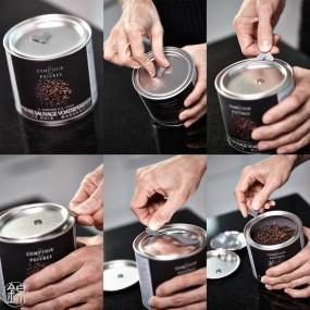 Pure black Bourbon vanilla powder