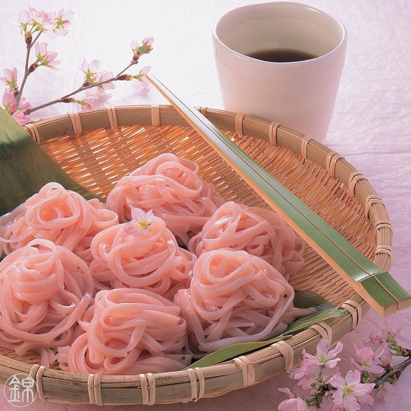 Sakura Men Sômen flavored with Sakura cherry leave