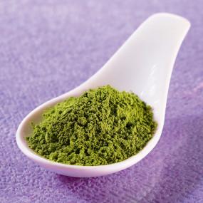 Matcha tea with Genmai roasted rice