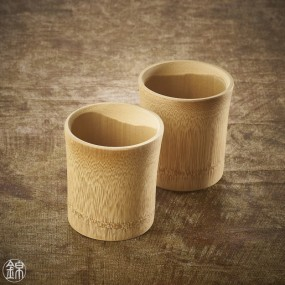 Rokuro bamboo glass for sake  Tableware