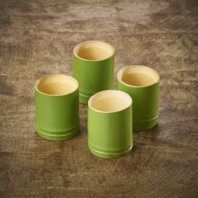 Verre à saké en bambou vert Wakatake