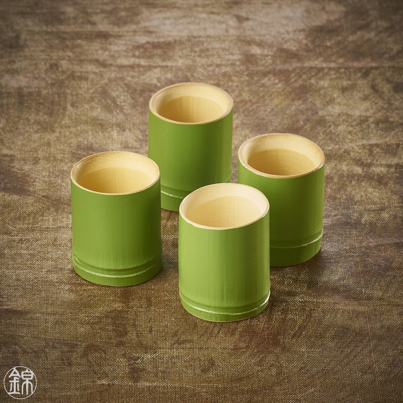 Verre à saké en bambou vert Wakatake Vaisselle