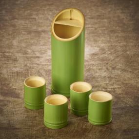 Green Wakatake bamboo glass for sake Tableware