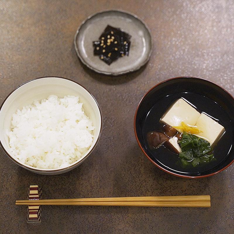 Recipe Consommé (broth) with Makombu dashi and its Tsukudani condiment