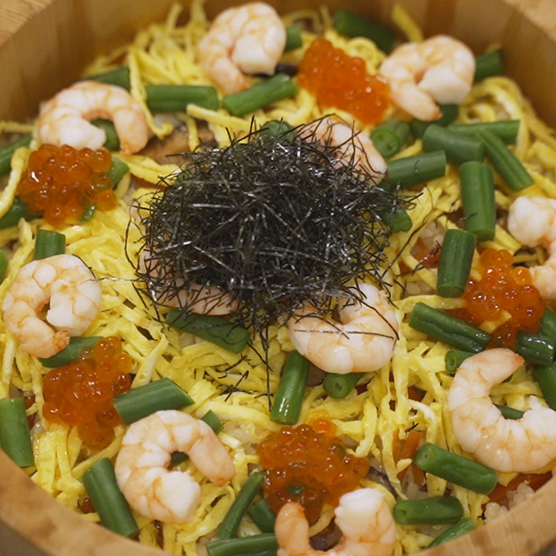 Recipe Chirashi sushi with yuzu